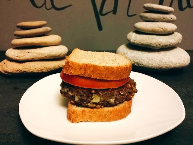 como hacer receta de hamburguesa de lenteja