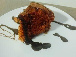 pastel de chocolate en el microondas
