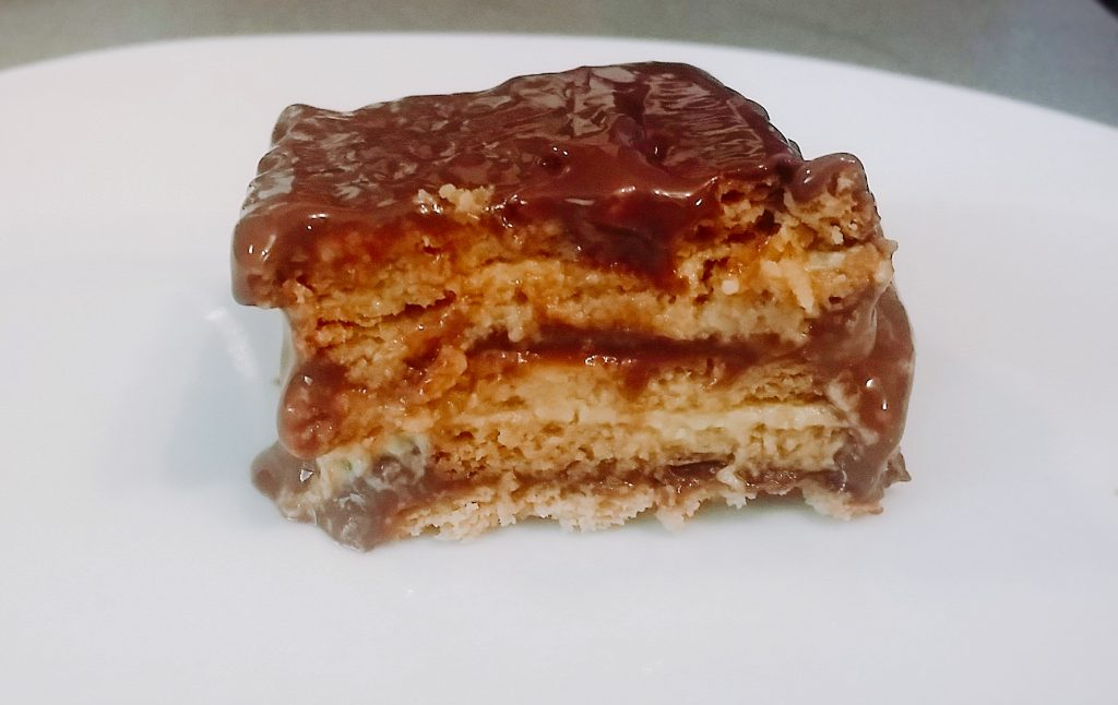 receta de tarta de galleta chocolate y flan