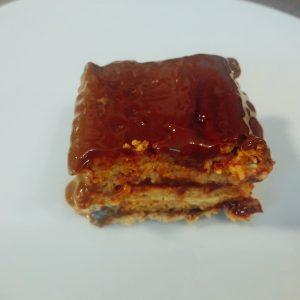 tarta de galleta chocolate y flan