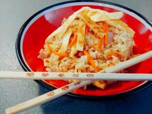 receta de Arroz chino tres delicias