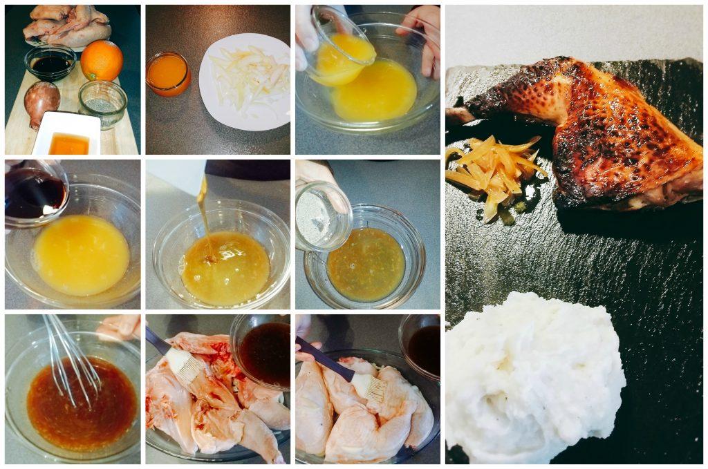 contramuslos de pollo a la miel paso a paso