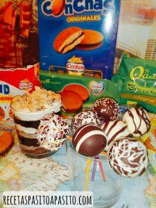 CAKE POPS Y VASOS DE MINI CONCHAS CODAN