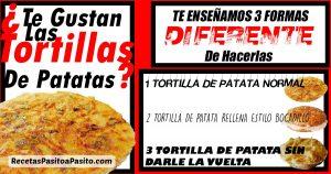 3 FORMAS DIFERENTES DE HACER TORTILLA DE PATATAS